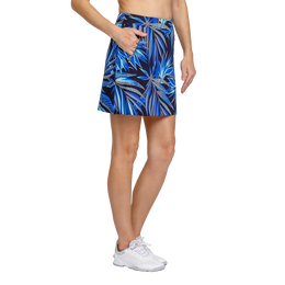Palm Springs Collection: Darby Frayed Frond Pull On Skort