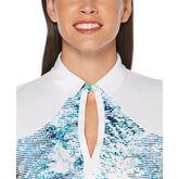 Alternate View 2 of Green Group: Tropic Shades Print Short Sleeve Polo Golf Shirt