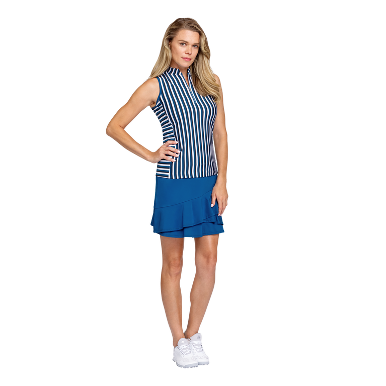 Tranquil Bay Collection: Veranda Striped Sleeveless Golf Top