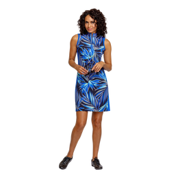 Palm Springs Collection: Danville Frayed Front Print Sleeveless Dress