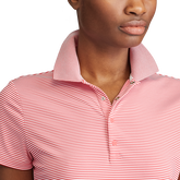 Alternate View 2 of Short Sleeve Striped Airflow Polo Shirt