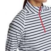 Alternate View 1 of Airflow Striped Long Sleeve Quarter-Zip Pull Over