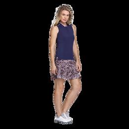 Skyline Collection: Ella Sleeveless Knit Panel Polo Shirt