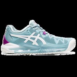 Gel Resolution 8 Women's Tennis Shoe - Blue/White