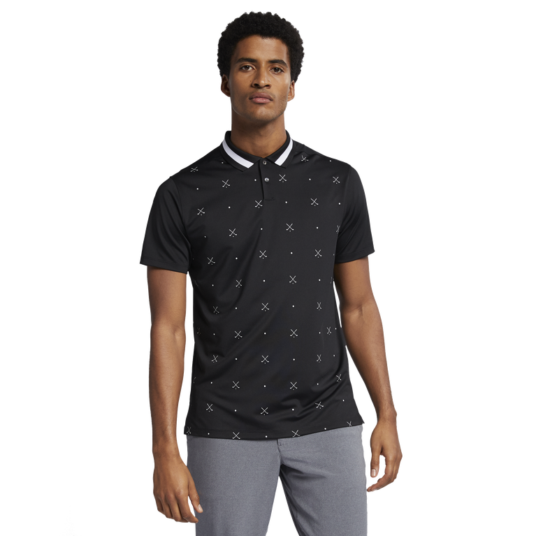 Vapor Print Tipped Collar Polo