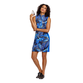 Alternate View 4 of Palm Springs Collection: Danville Frayed Front Print Sleeveless Dress