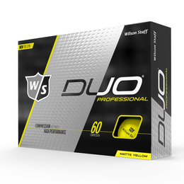 DUO Professional Matte Yellow Golf Balls - Personalized