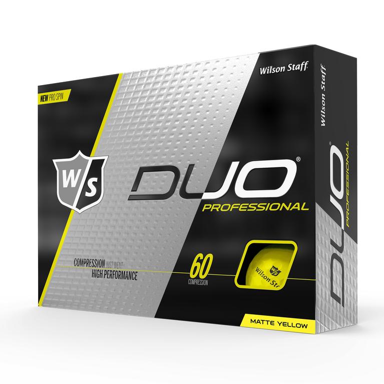 DUO Professional Matte Yellow Golf Balls