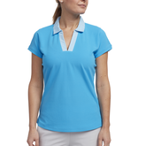 Cheeky Collection: Short Sleeve Striped Trim Polo Shirt