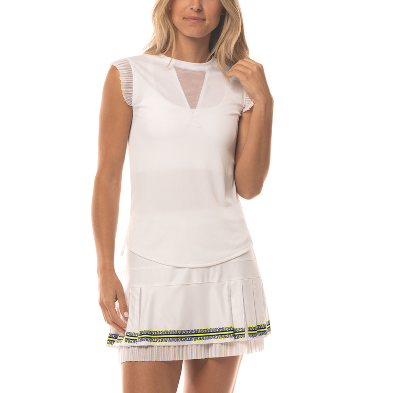Lace Yourself Collection: Shake it Up Ribbed Tennis Tank Top