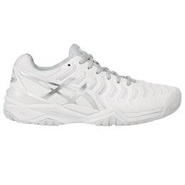 Asics GEL-Resolution 7 Women's Tennis Shoe - White/Silver