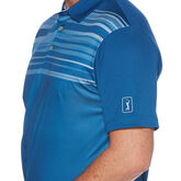 Alternate View 2 of Textured Multi-Colored Chest Stripe Short Sleeve Golf Polo Shirt