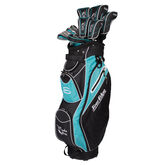 Moda Silk Women's Complete Set - Black/Light Blue