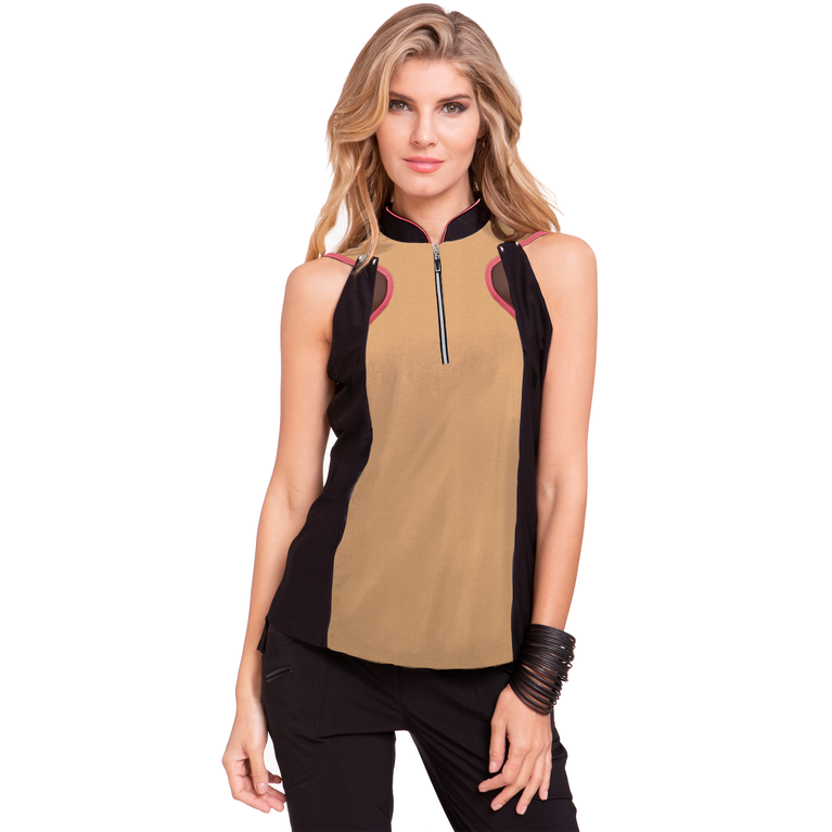 Venus Collection: Sleeveless Color Block Top