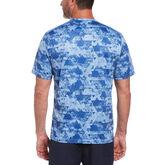 Alternate View 1 of Camo Geo Print Short Sleeve Crew Neck Tee Shirt