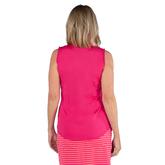 Alternate View 6 of Pink Lady Collection: Sleeveless Cutaway Ruffle Mock Golf Shirt