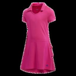 Girls Short Sleeve Ruffled Dress