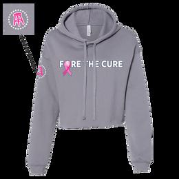 Pink Ribbon Cropped Hoodie Sweatshirt