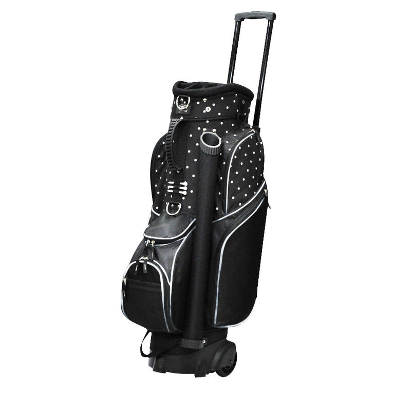 RJ Sports Wheeled Spinner Polka Dot Cart Bag