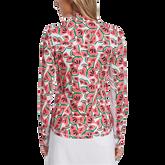 Alternate View 1 of Watermelon Collection: Watermelon Print Long Sleeve 1/4 Zip Golf Shirt
