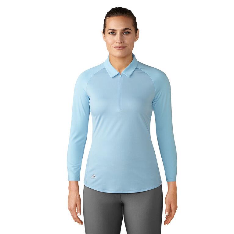 adidas 3/4 Sleeve Zippered Polo