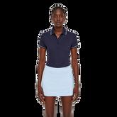 Short Sleeve Leana Lux Pique Polo Front Cut
