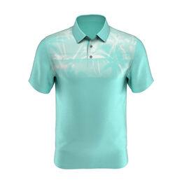 Shadow Palm Print Short Sleeve Golf Polo Shirt