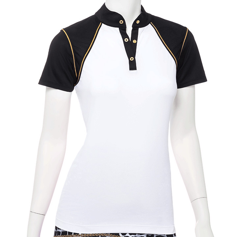 Wild Card Collection: Short Sleeve Gold Trim Polo Shirt
