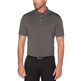 PGA TOUR Men's Short Sleeve Yarn Dye Feeder Stripe