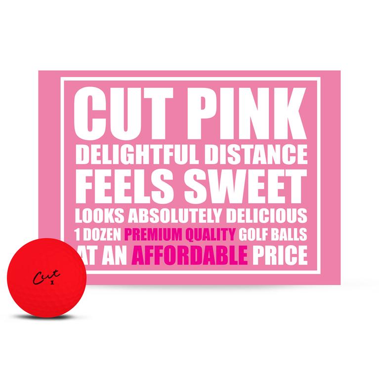 Cut Matte Pink Golf Balls