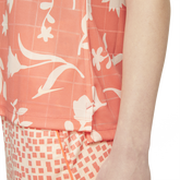 Alternate View 3 of Floral Print Sleeveless Breathe Polo Shirt