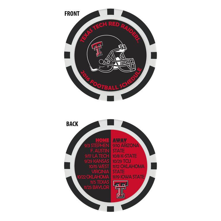 Team Effort Texas Tech Football Schedule Ball Marker