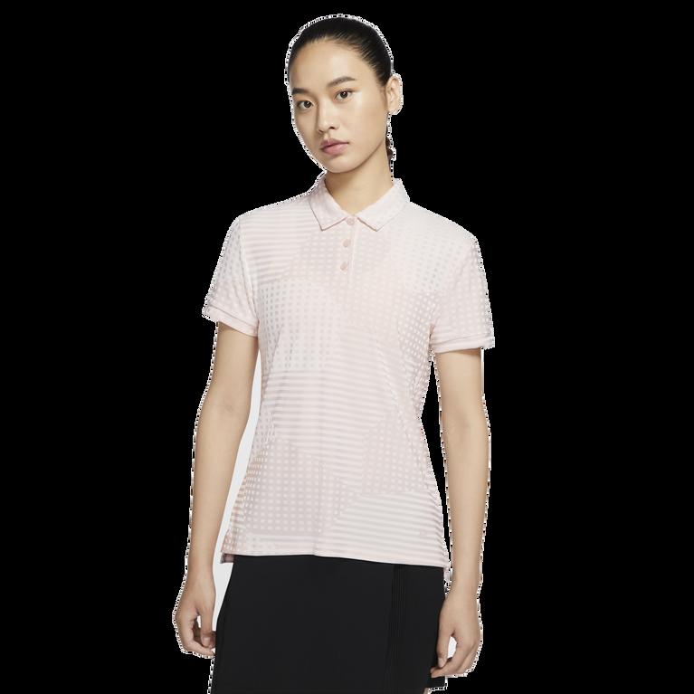 Dri-FIT UV Ace Women's Short Sleeve Dot Striped Golf Polo