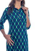 Alternate View 1 of Raleigh 3/4 Sleeve Linked Up Print Dress