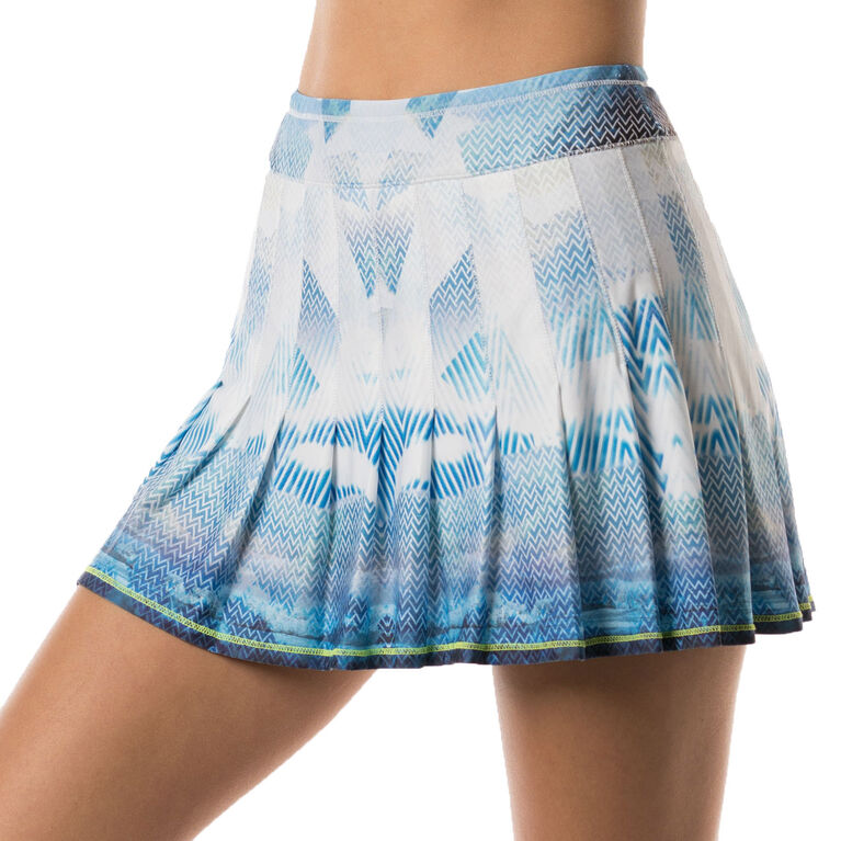 Long Latitude Pleated Skirt