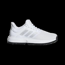 adidas GameCourt Men's Tennis Shoe - White/Silver