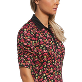 Alternate View 2 of Ditsy Floral Collection: Funfetti Floral Print Short Sleeve Golf Polo