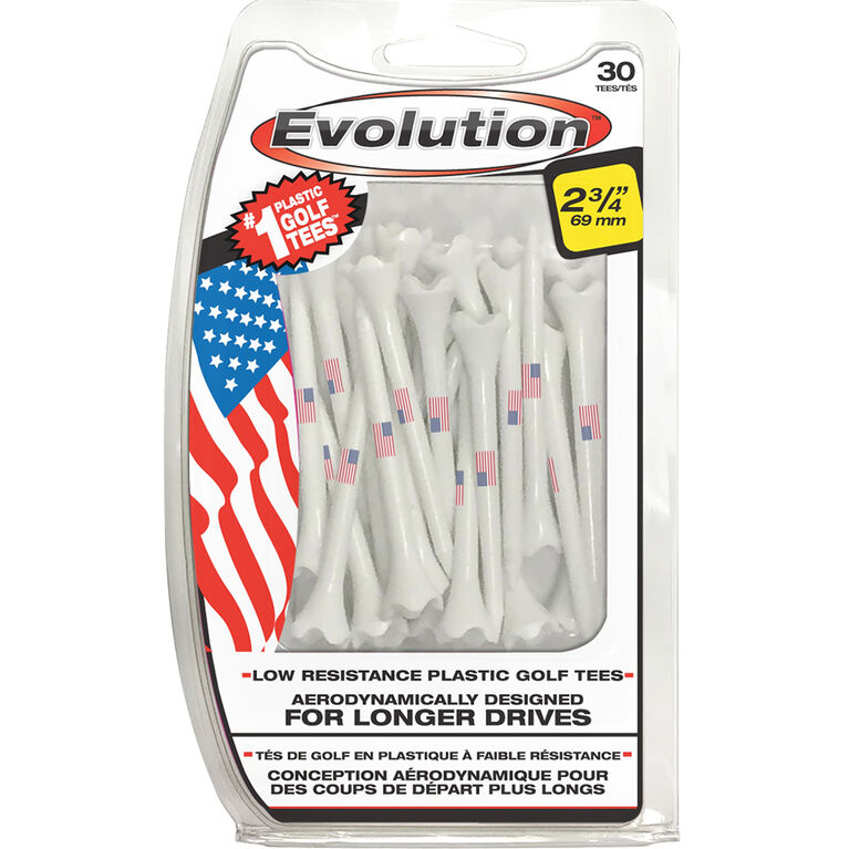 Professional Tee System 2-3/4 inch USA Golf Tees 30 Pack
