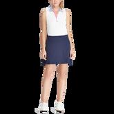Striped-Collar Piqué Golf Polo