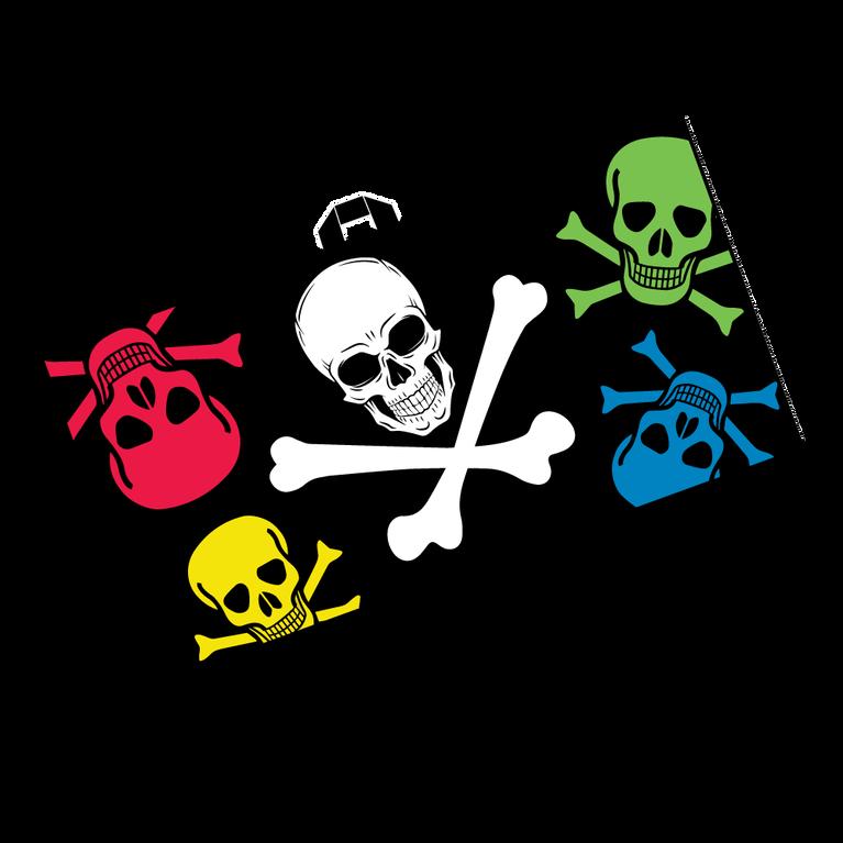 Color Skull & Crossbone Microfiber Player's Towel