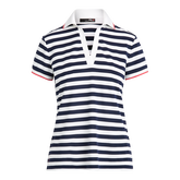 Alternate View 4 of Short Sleeve Striped Piqué Golf Polo