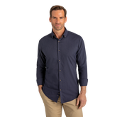 Ludlow Solid Navy Dress Shirt