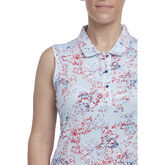 Alternate View 2 of Hibiscus Group: Sleeveless Floral Dot Print Polo