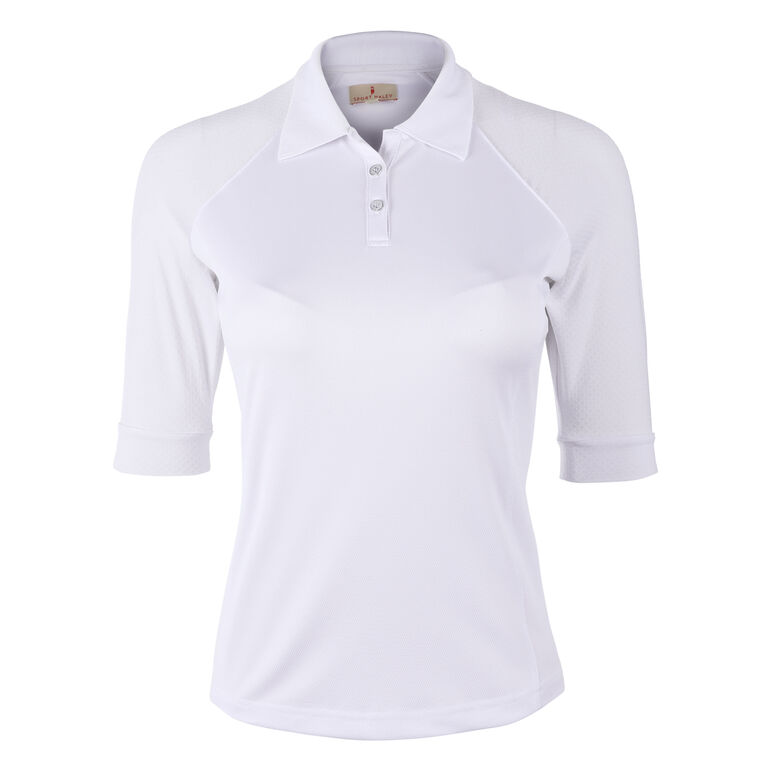 Sport Haley Brooke Elbow Sleeve Solid Polo