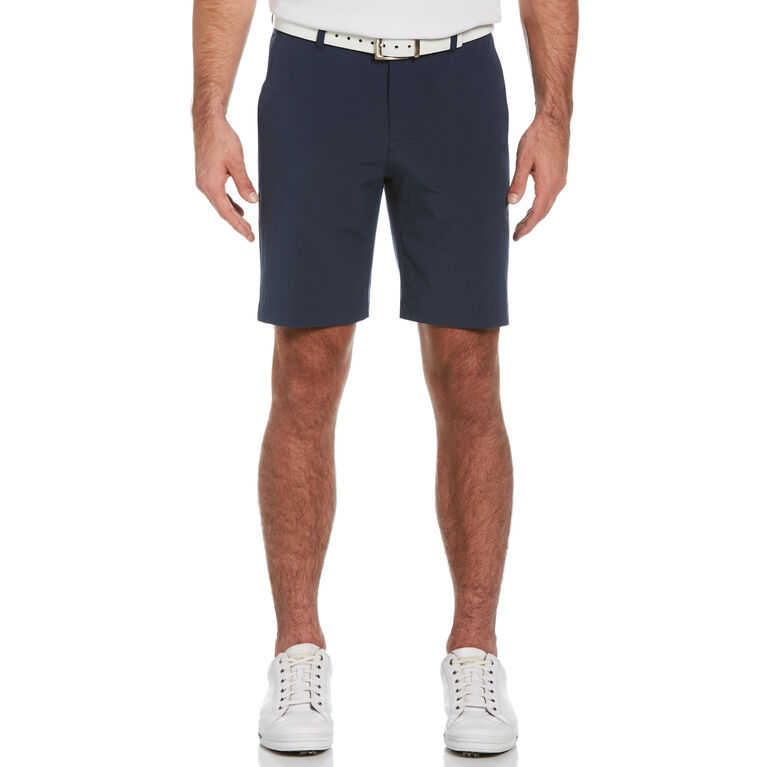 "Flat Front Horizontal Textured 9"" Golf Short"