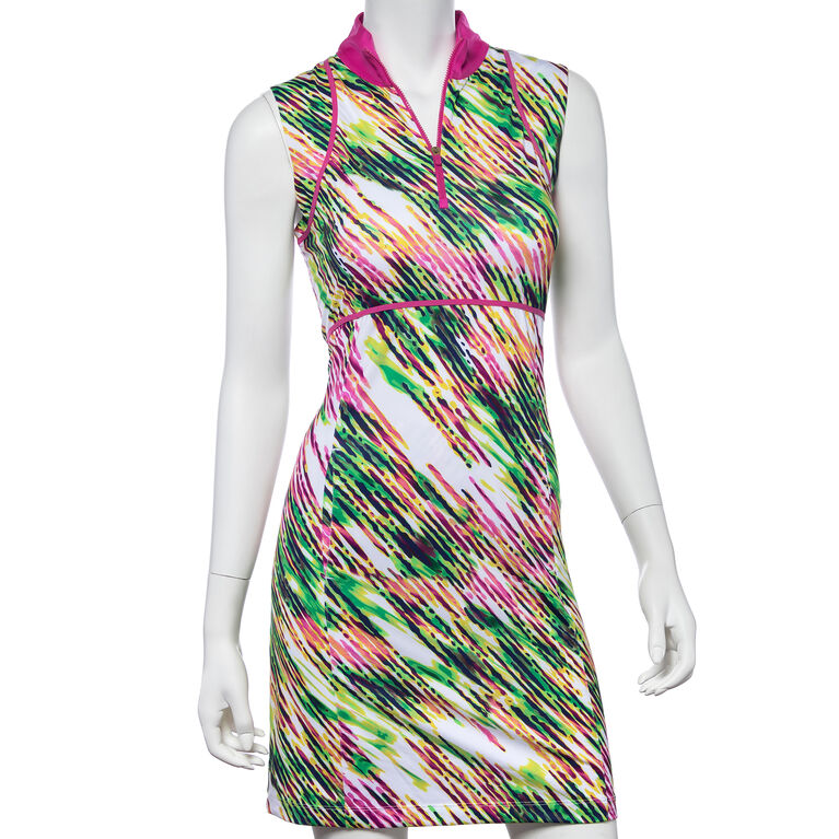 Treasure Island Group: Diagonal Watercolor Spray Print Dress
