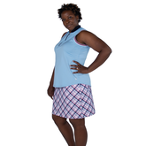Alternate View 6 of Cape May Powder Collection: Sleeveless Cutaway Rib Mock Shirt