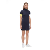 Alternate View 1 of Ines Short Sleeve Mock Neck Dress