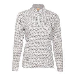 Rockport Group: Alexa Long Sleeve Printed Ruffle Detailed Shirt