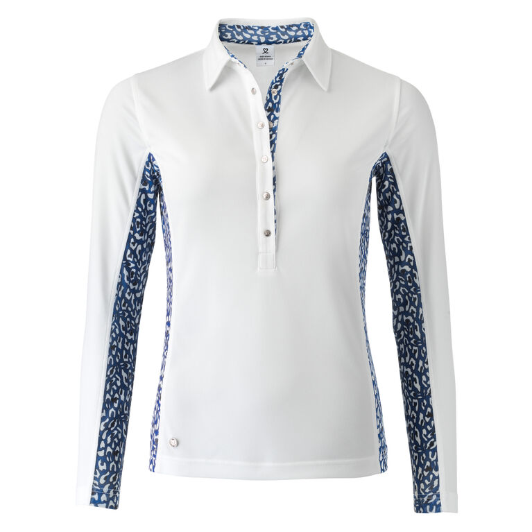 Ultra Group: Bess White Long Sleeve Polo